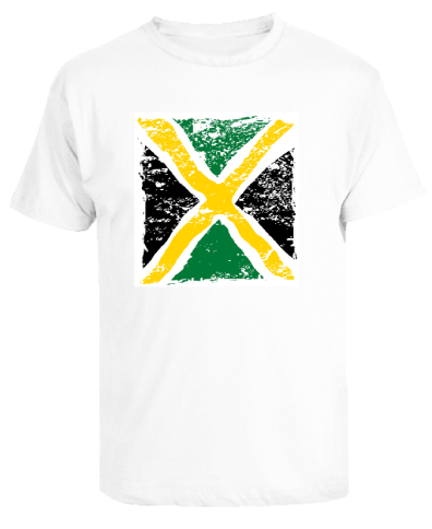 Kid's 'Distressed Flag' Printed White Cotton Tee
