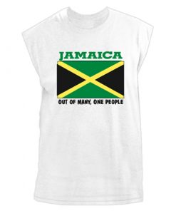 Men's 'Jamaica Out of Many' Printed Muscle Shirt