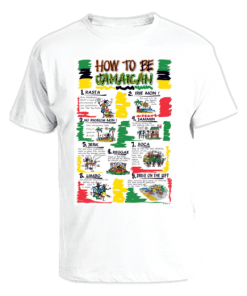 Men's 'How to be Jamaican' Printed Cotton Tee