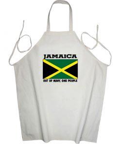 'Jamaica Flag' Printed Apron
