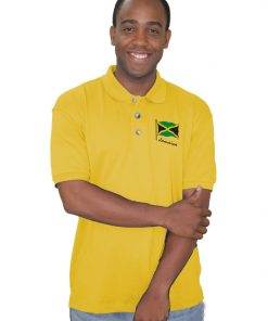 Mens Embroidered Palm Club Golf Shirt