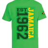 Kid's 'Jamaica 1962' Printed Jamaica Green Cotton Tee