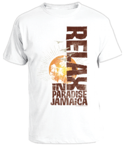 Kid's 'Relax in Paradise' Printed Cotton Tee