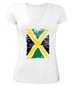 Ladies 'Distressed Jamaica Flag'