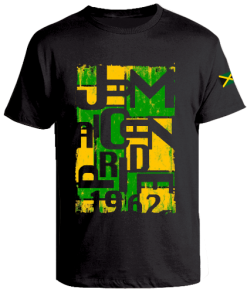 Men's 'Jamaica 1962' Printed Black Cotton Tee