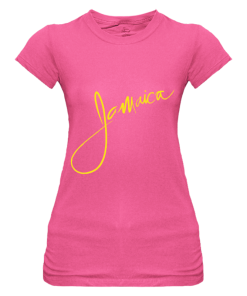Ladies 'Jamaica' Printed Sheer Jersey Crew Neck Tee