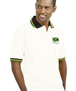 Men's Embroidered Polycotton Jacquard Golf Shirt