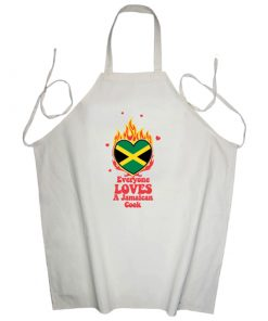 'Everyone Loves a Jamaican Cook' Printed Apron