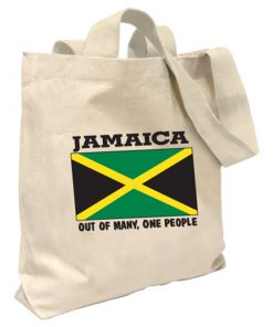 Jamaica 'Out of Many' Canvas Tote Bag