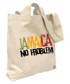 'Jamaica No Problem' Canvas Tote Bag