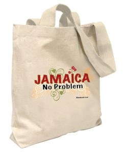 Jamaica 'No Problem' Canvas Tote Bag-