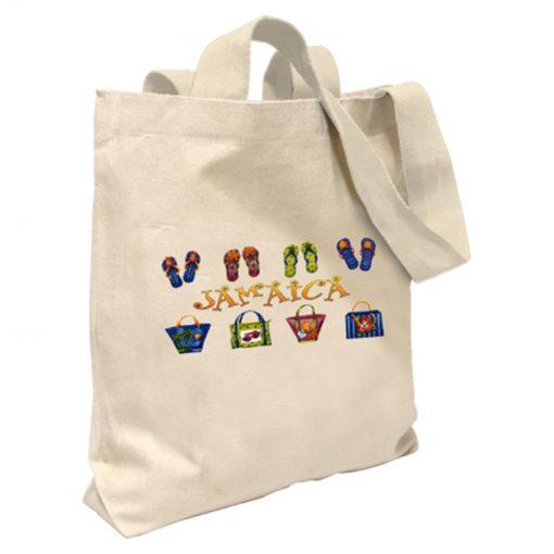 Jamaica 'Footprints' Canvas Tote Bag