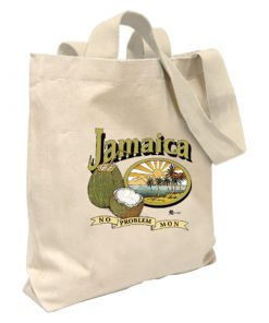 Jamaica ' No Problem Mon' Canvas Tote Bag