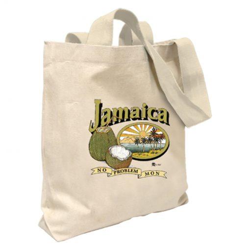 Jamaica ' No Problem Mon' Canvas Tote Bag