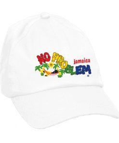 Kids 'No Problem' Embroidered Brush Cotton Cap