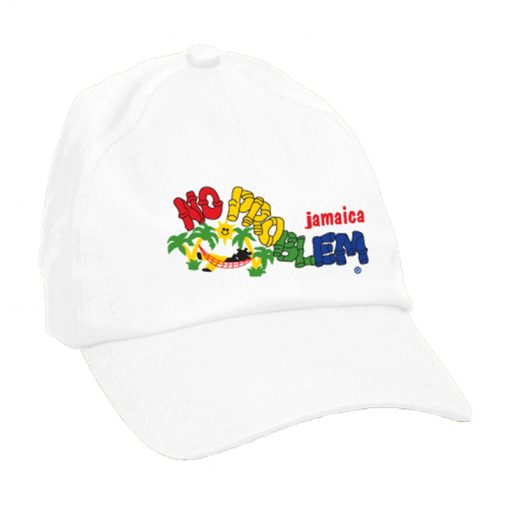 Kids 'No Problem' Embroidered Brush Cotton Cap