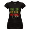 Ladies 'One Love/Heart/Jamaica'Printed Jersey Tee
