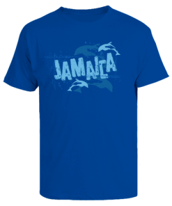 Men's 'Jamaica' Royal Blue Printed Cotton Tee