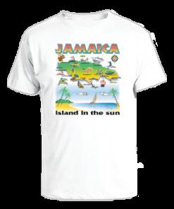 Men's 'Island In Sun' Printed Cotton Tee
