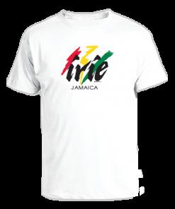 Men's 'Irie Jamaica' Printed White Cotton Tee