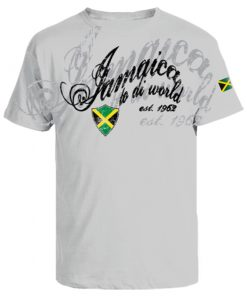 Men's 'Jamaica to di World' Oxford Ash Cotton Tee