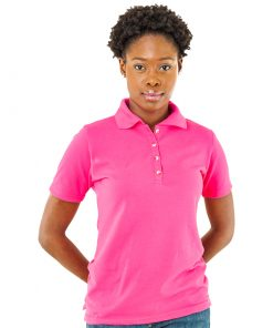 Ladies Palm Club Magenta Golf Shirt