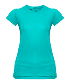 Ladies Sheer Jersey Crew Tee