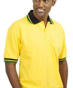 Men's Polycotton Jacquard Golf Shirt
