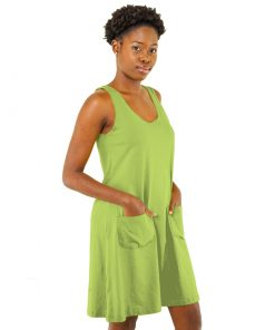 Lime Green Ladies Jersey Tank Dress
