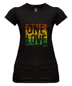 Ladies 'One Love' Printed Sheer Jersey T-shirt