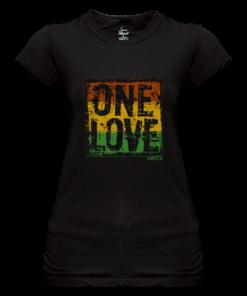 Ladies 'One Love' Printed Sheer Jersey T-shirt