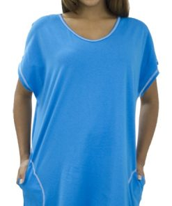 Ladies Beach Tee Dress with Pockets
