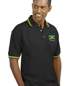 Men's Embroidered Jacquard Golf Shirt