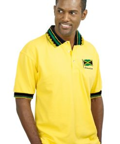 Men's Embroidered Jacquard Golf Shirt