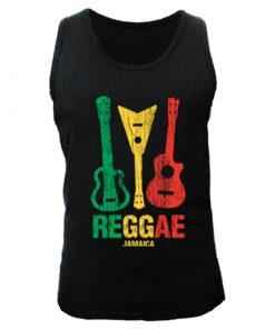Men's 'Reggae Jamaica' Black Tank Top