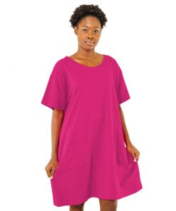 Ladies Magenta Maxi Tee w/ Pockets.