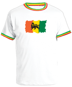 Men's 'Lion of Judah' Printed Reggae Trim T-shirt