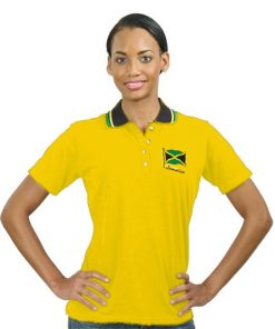 Ladies Embroidered Jacquard Golf Shirt