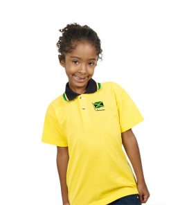 Kids Embroidered Jacquard Golf Shirt