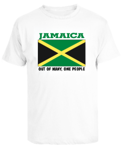 Kid's 'Jamaica Flag' Printed White T-shirt