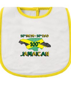 Infant '100% Jamaican' Printed Bib