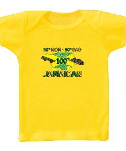 oddler '100% Jamaican' Printed Yellow T-shirt