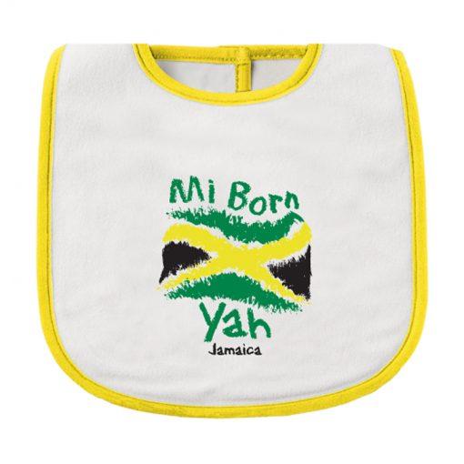 Infant 'Mi Born Yah' Printed Bib