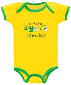 Baby 'One Love Jamaica' Yellow Romper