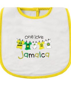 Infant 'One Love Jamaica' Printed Bib