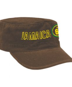 Embroidered 'Jamaica' Military Brown Cap.