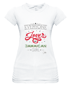 Ladies 'Everyone Loves a Jamaican Girl' Sheer Jersey T-shirt-