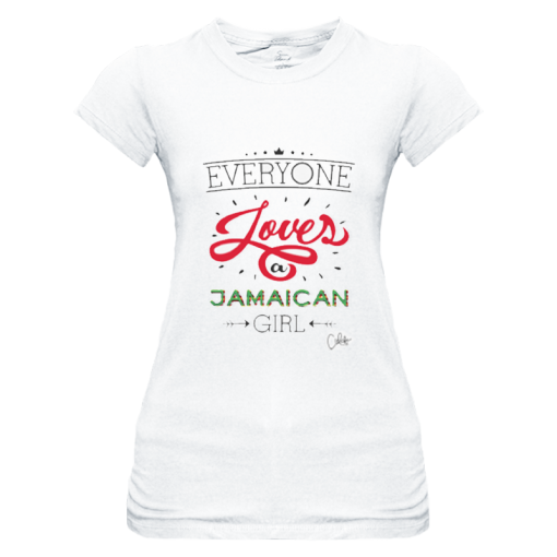 Ladies 'Everyone Loves a Jamaican Girl' Sheer Jersey T-shirt-