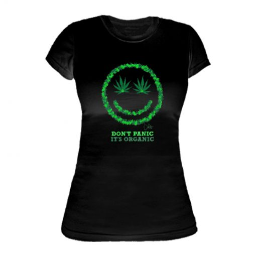 Ladies ' It's Organic Printed Slim Fit T-shirt