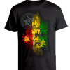 Men's 'Rasta Ambassida' Printed Cotton Tee